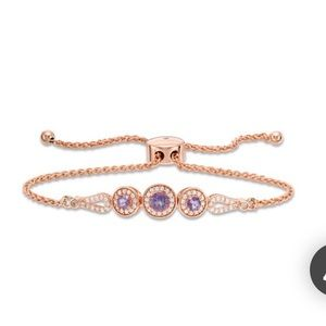 Rose Gold Bracelet with White Gold Diamonds